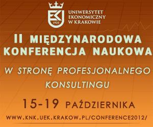 """II Międzynarodowa Konferencja Naukowa """"W stronę profesjonalnego konsultingu"""""""